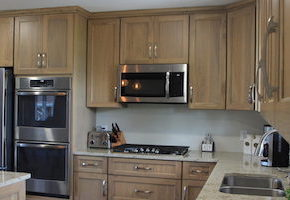 new cabinets installed in a kitchen